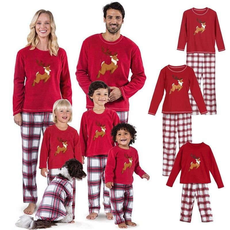 2018 Family Christmas Pajamas Set Family Matching Clothes
