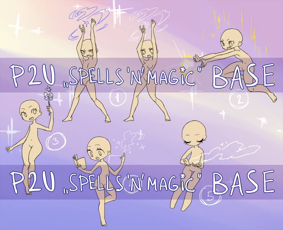 P2u Spells N Magic Base By Nextlvl Adopts On Deviantart Drawing Base Drawing Reference Poses Anime Drawing Styles
