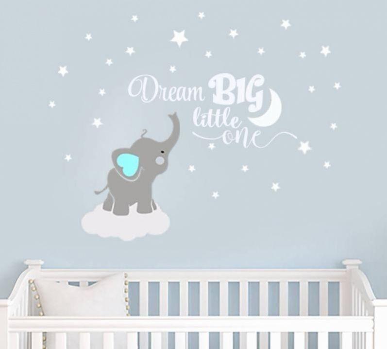 Traum Grosse Kleine Elefant Aufkleber Name Wandtattoo Elefant Wandtattoo Elefanten Baby Zimmer Dekor Aufkleber Ki In 2020 Jungszimmer Baby Jungenzimmer Babyzimmer Dekor