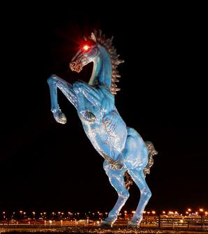 Resultado de imagen de Aeropuerto de DENVER, el autor del caballo
