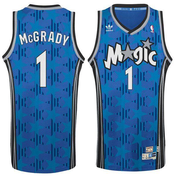 77d0d5390ef Men s Orlando Magic Tracy McGrady adidas Blue Hardwood Classic Swingman  Jersey