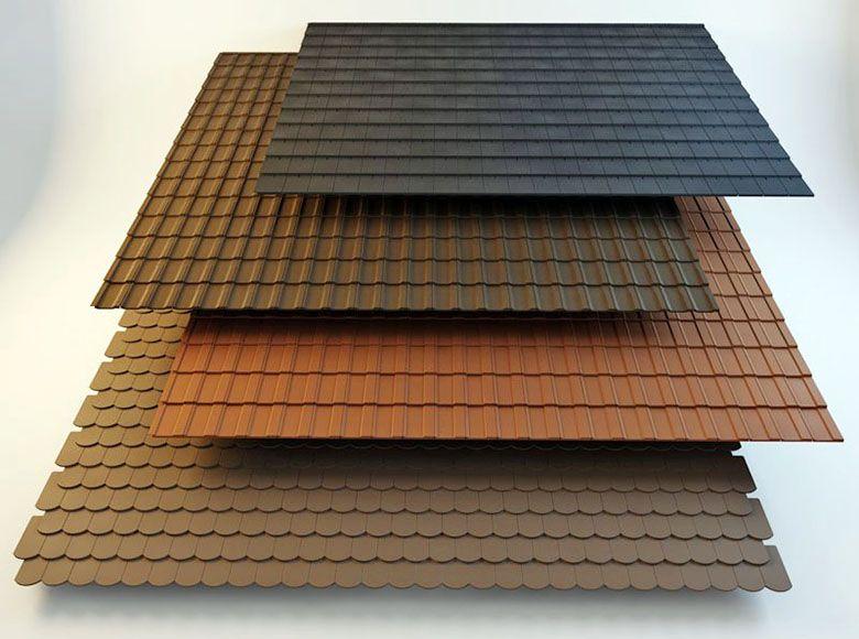 4 Types Of Roof Tiles 3d Model Roof Tiles Roof 3d Model