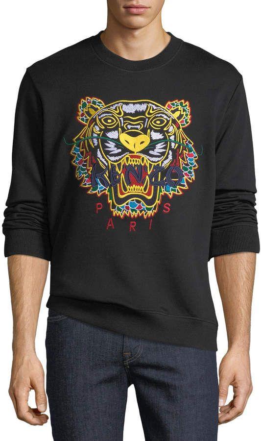 07b982cea00 Kenzo Men s Embroidered Dragon Tiger Sweatshirt