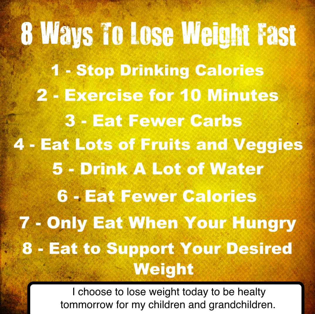 How do you lose weight in a week?