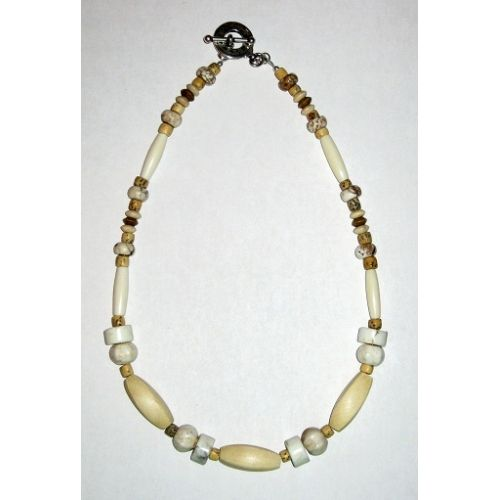Off-White and Beige Men's Necklace