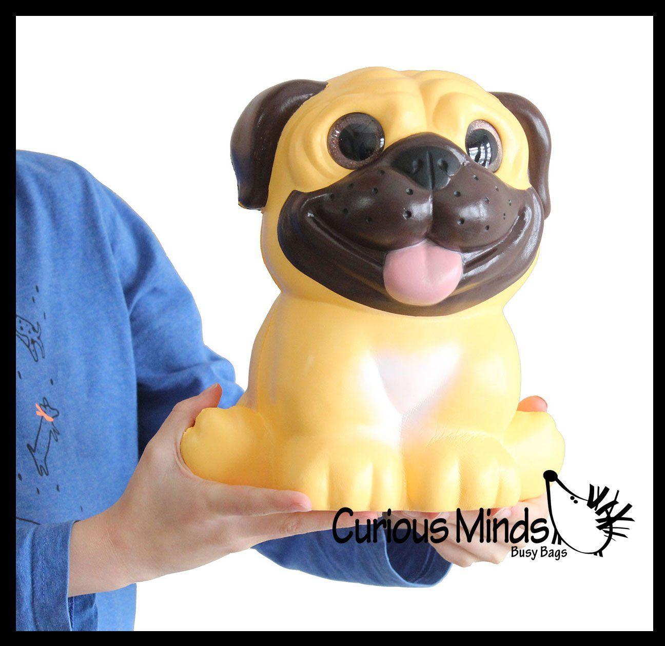 Jumbo Pug Dog Squishy Slow Rise Foam Pet Animal Toy Scented