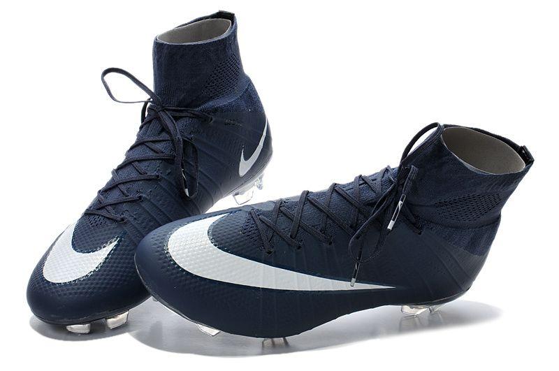 Hot Sale Nike Mercurial Superfly FG Dark Blue White $109.99