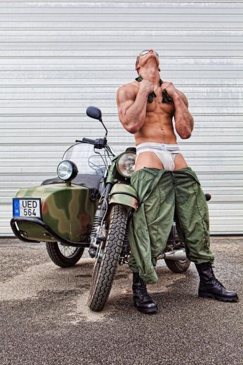 Nude motorcycle men