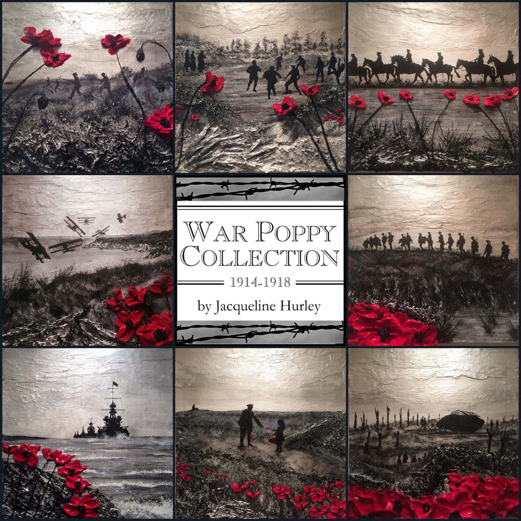 Remembrance Day Poppy Art Paintings Jacqueline Hurley