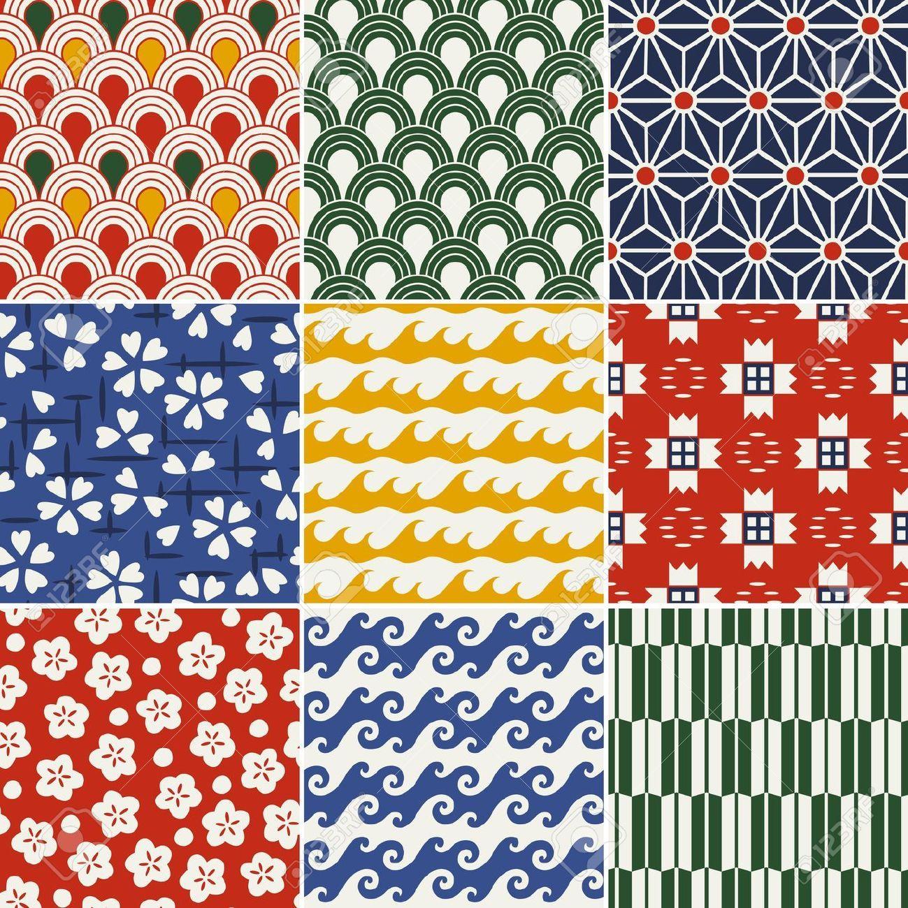 Seamless Japanese Kimono Pattern Royalty Free Cliparts, Vectors, And ...