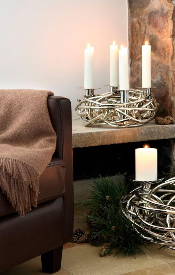 Weihnachtsdekoration Fink eleganter Kerzenkranz »CORONA« 4-flammig - wohnzimmer deko afrika
