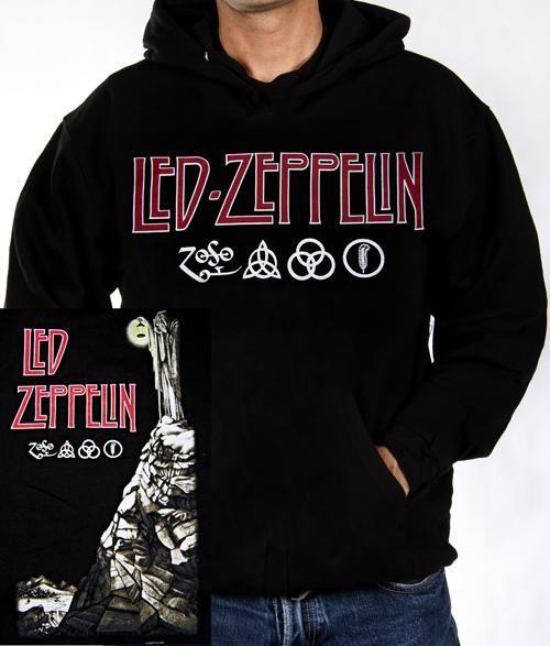 Led Zepplin Punk Rock Band Graphic Hoodie