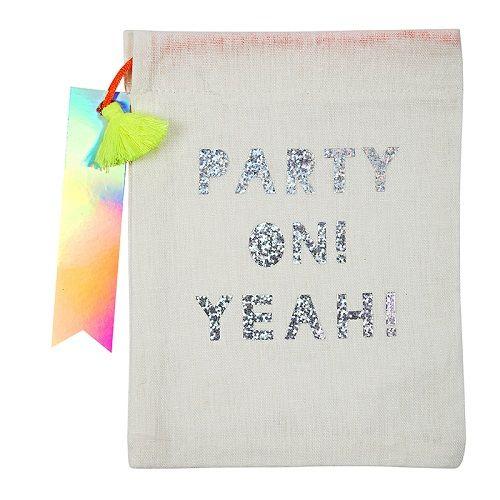 Party On Fabric Party Bag Meri Meri Party Supplies Uk Party Bags Gift Bags Fabric Gift Bags