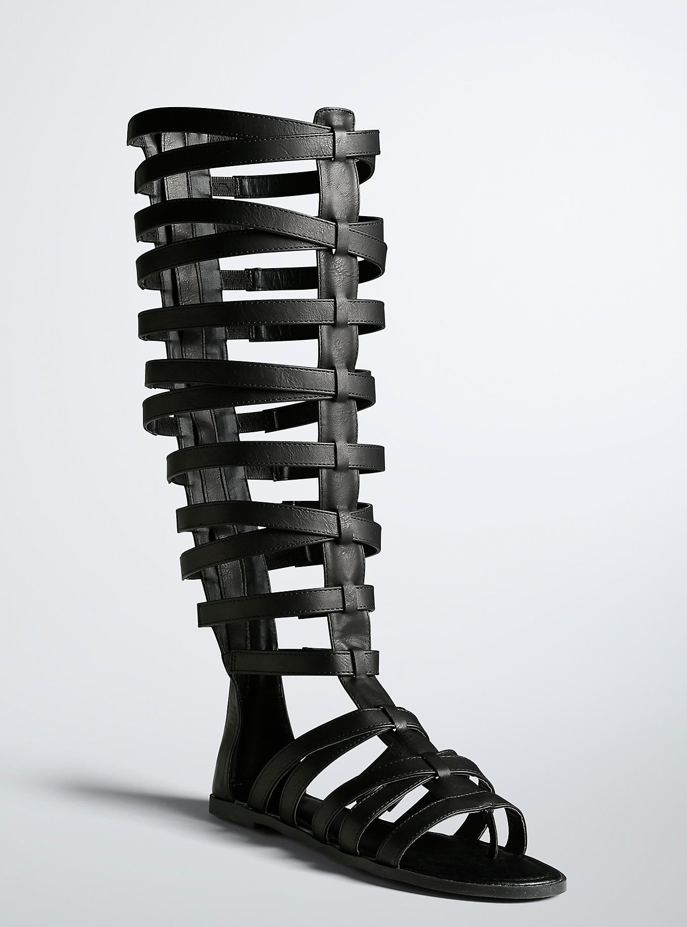 Tall Gladiator Cage Sandals (Wide Width & Wide Calf)   Caged