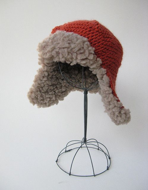 Fleeced Earflap Hat pattern by Julie Weisenberger | Hats | Pinterest ...