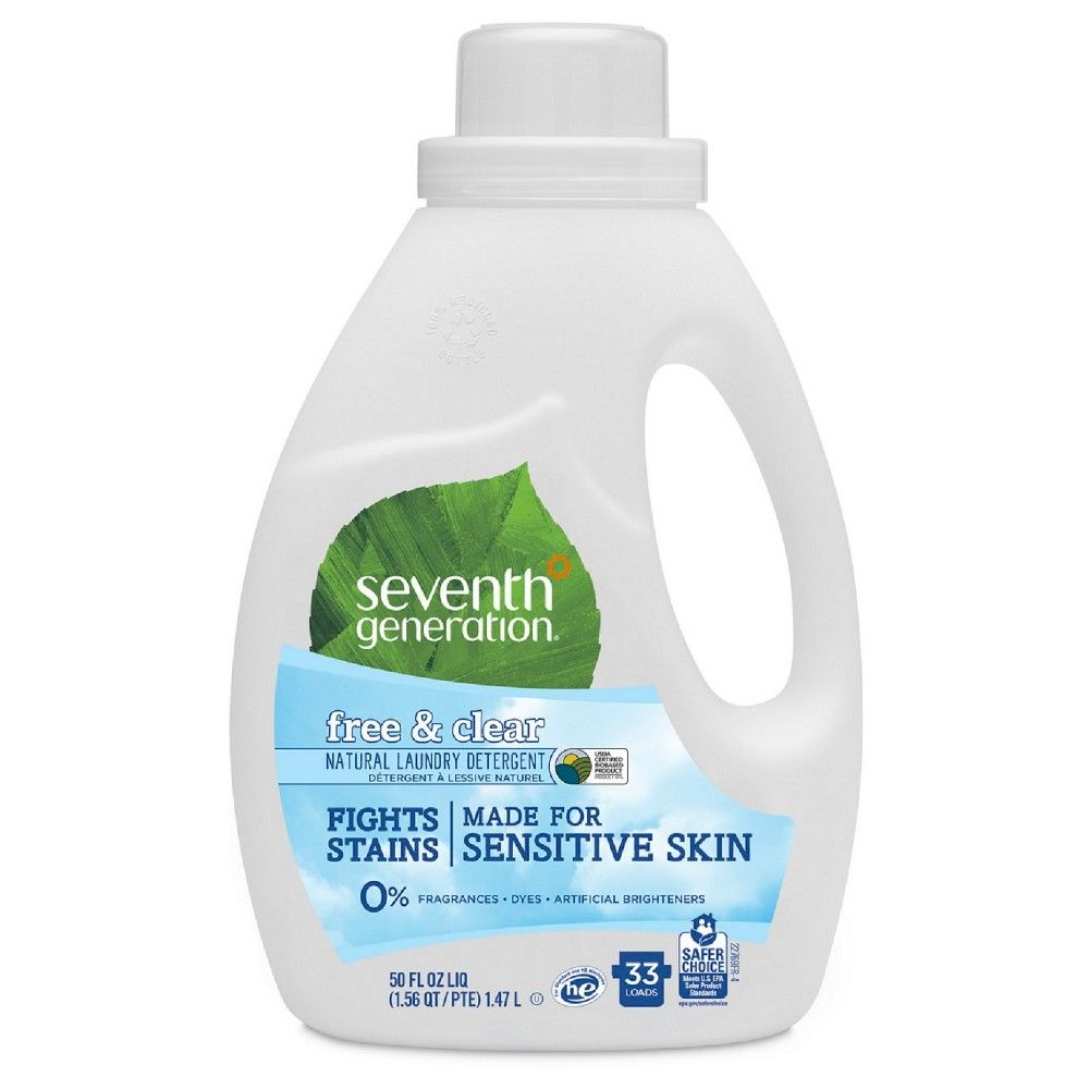 Seventh Generation Free Clear Natural Laundry Detergent 50 Fl