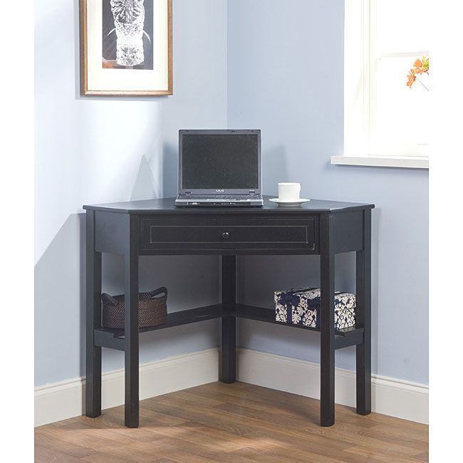 Maximize Your Space With This Black Finished Corner Computer Desk. This  Computer Desk Includes Ideas