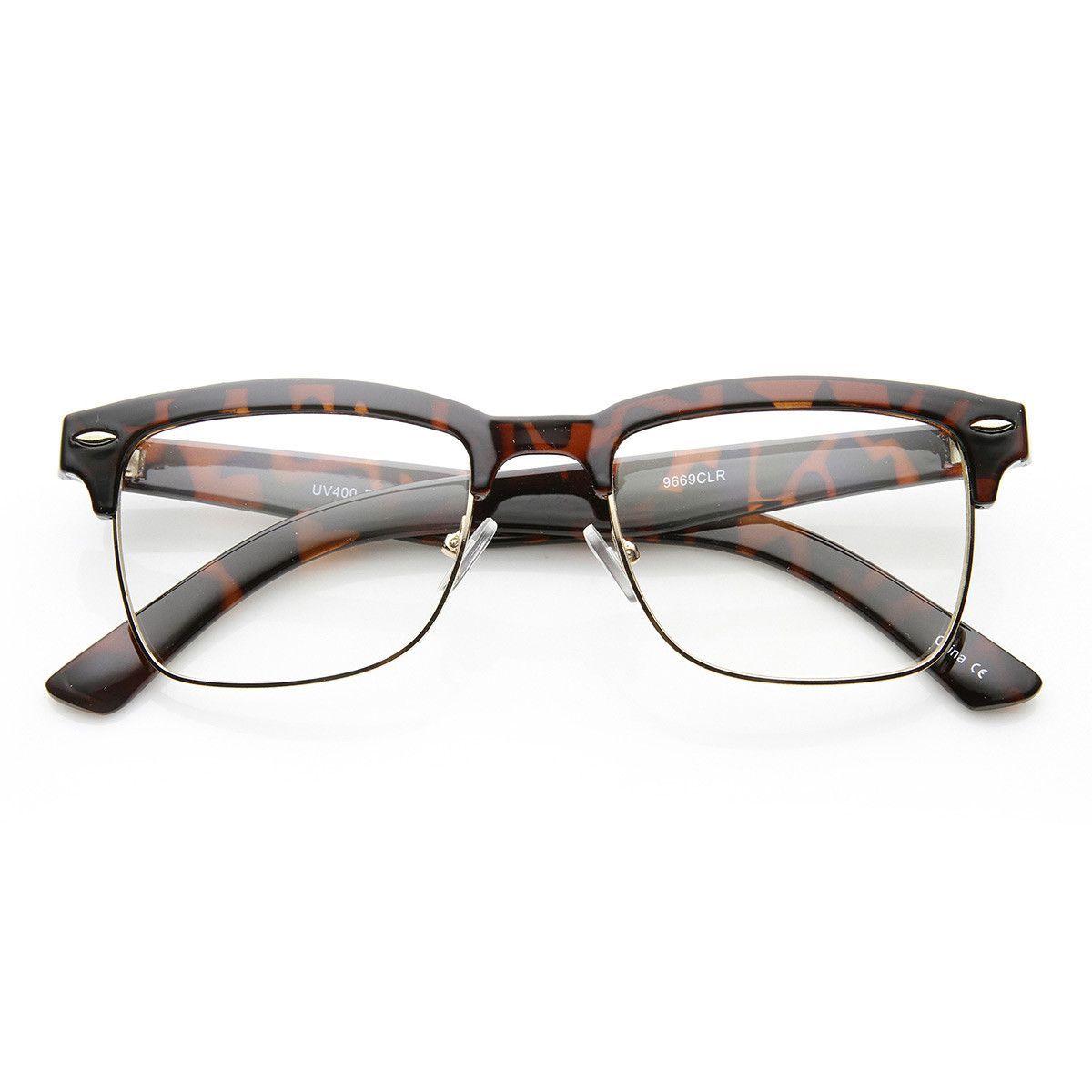 603d689f59d Unisex Square Medium Semi-Rimless Modern Fashion Glasses in 2019 ...