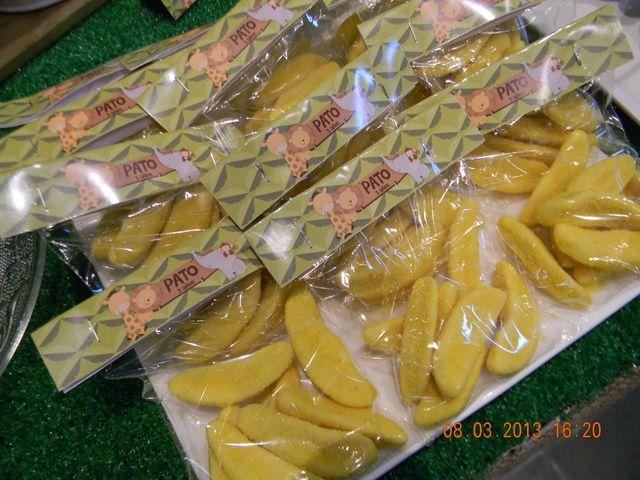 Banana Cookies at a Jungle Party #jungle #partycookies