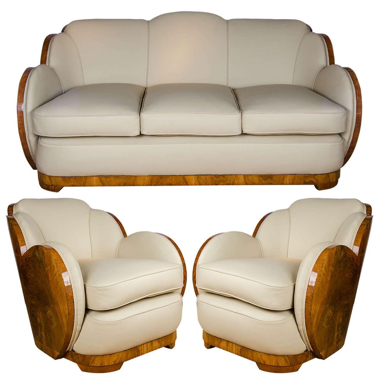Art Deco Three-Piece Suite Sofas   Living room sets, Room set and ...
