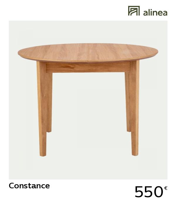 Alinea Constance Table De Repas Extensible Ronde Placage Chene D114 A D151cm 4 A 6 Convives Meubles S Table Repas Table Extensible Meuble Salle A Manger