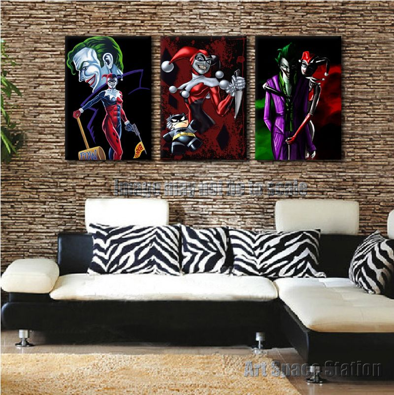 Harley-Quinn-Batman-Joker-DC-Comics-Poster-Pop-Art-Portrait-Print ...