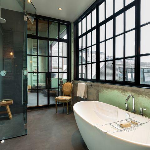 Industrial bei houzz loft style wohnen dank industrial for Badezimmer industriedesign