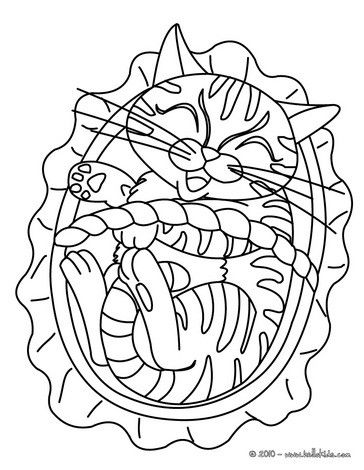 Print out and color this Cat in a basket coloring page. Nice cat ...