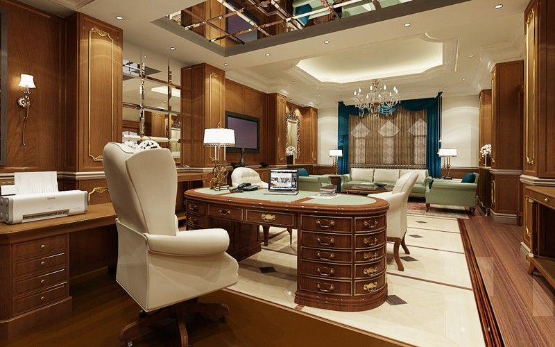 When We Think Of The Traditional Home Offices Many People Think Mainly About Rooms In The Executive Office Design Home Office Design Traditional Home Offices