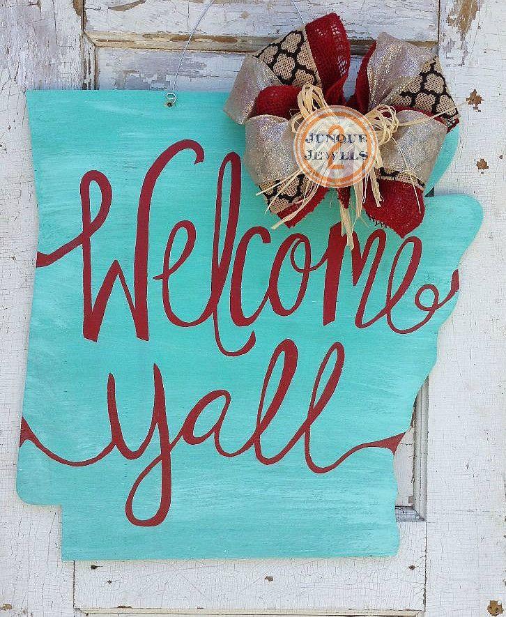 Arkansas door hanger, Welcome Y'all