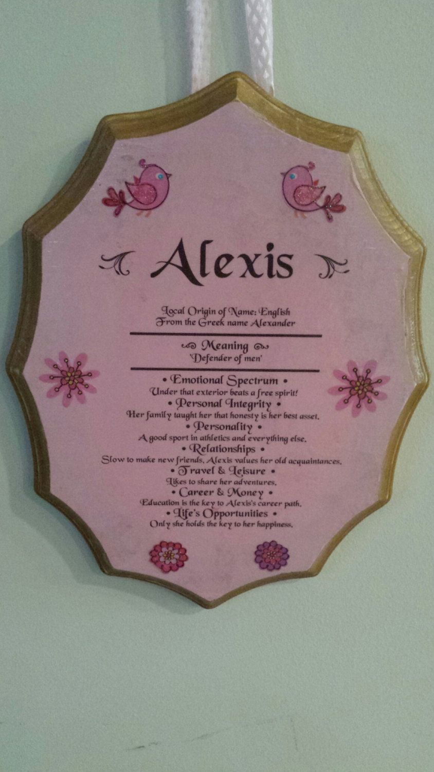 Plaques with name meanings - Children Wooden Name Plaque Meaning Of Name Plaque Alexis Chase Michael Faith Tyler Name Plaque