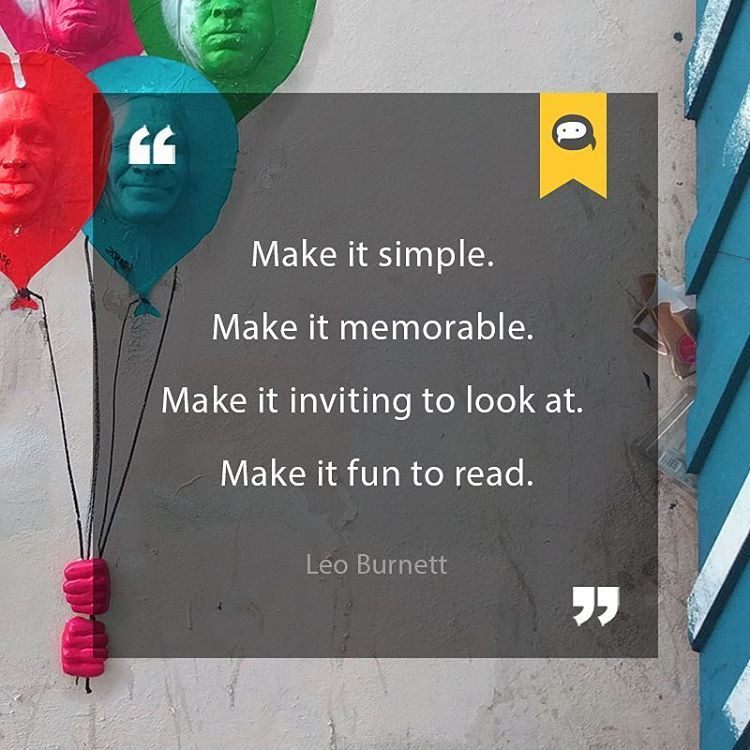 Inspirational Business Quote Make It Simple Make It Memorable