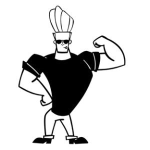 Coloring Johnny Bravo Cerca Con Google Black And White Cartoon Johnny Bravo Color