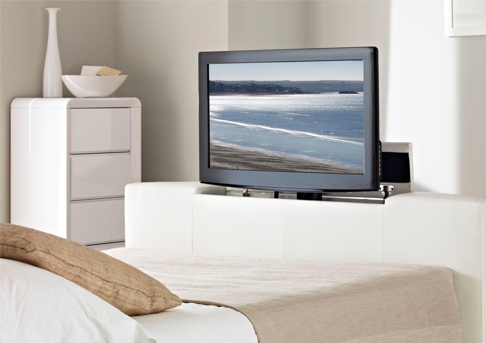 Cool Atlantis Leather Ottoman Tv Bed White Ottoman Beds Machost Co Dining Chair Design Ideas Machostcouk
