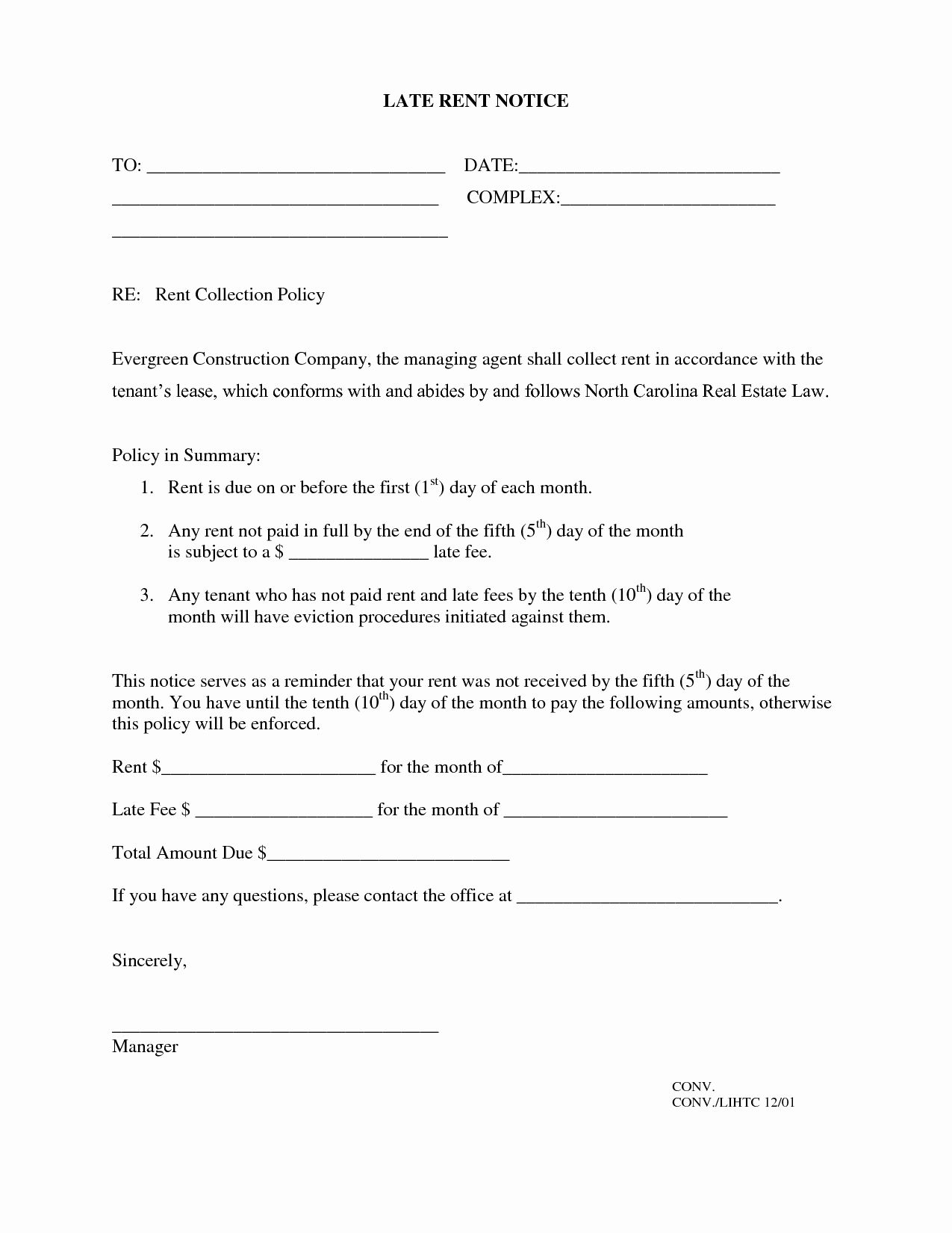 40 late rent notice template in 2020 late rent notice