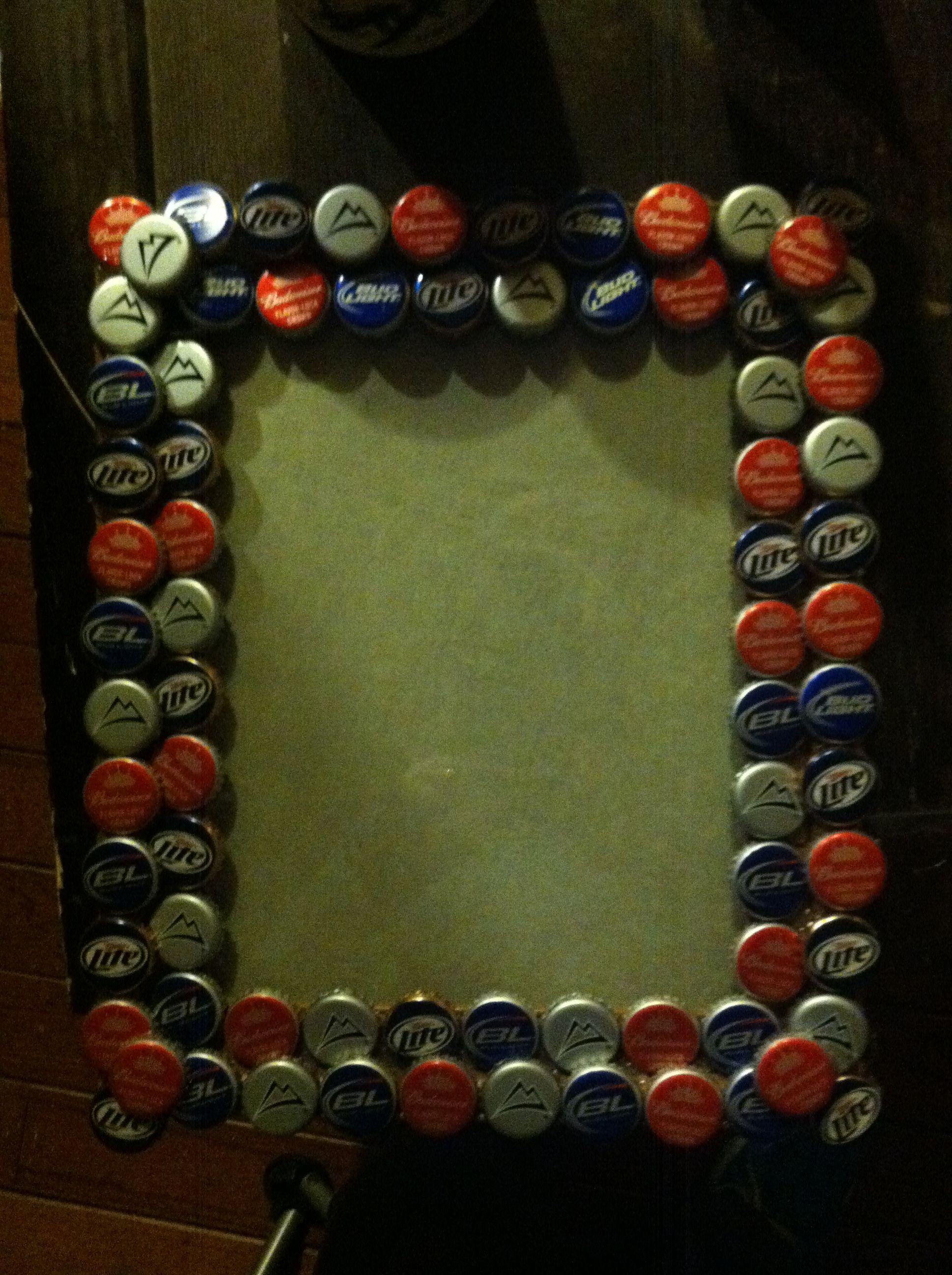 Bottle Cap frame. Mtn Dew bottle caps.. Man Cave.   DOOOOPE ...