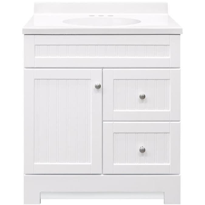 style selections ellenbee 30 5 in white single sink on lowes vanity id=81028