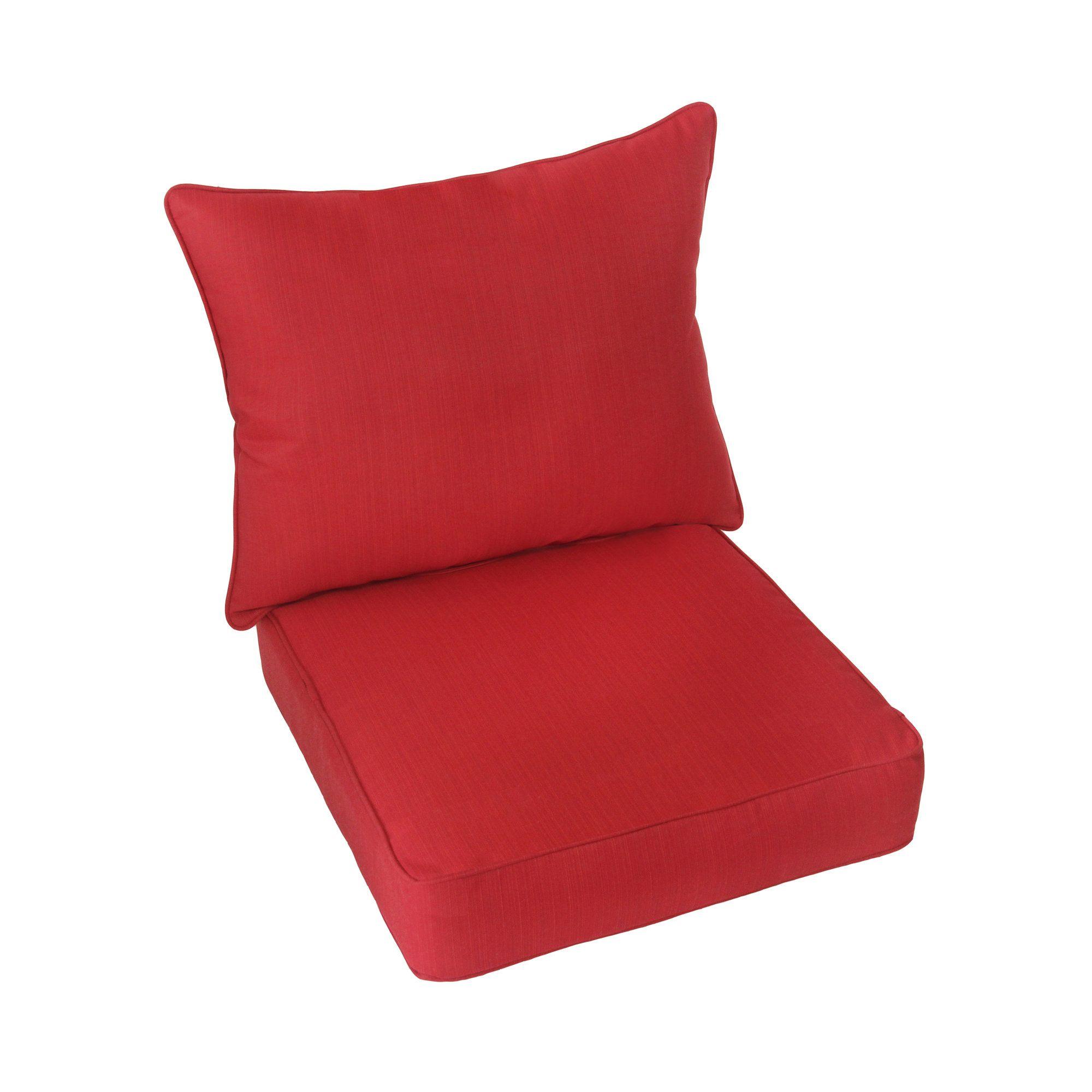 Textured Indoor Outdoor Sunbrella Lounge Chair Cushion Set