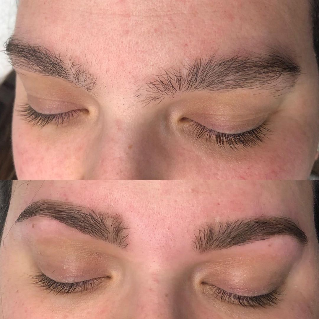 Brow wax before and after @transcona_salon_spa ! My client ...