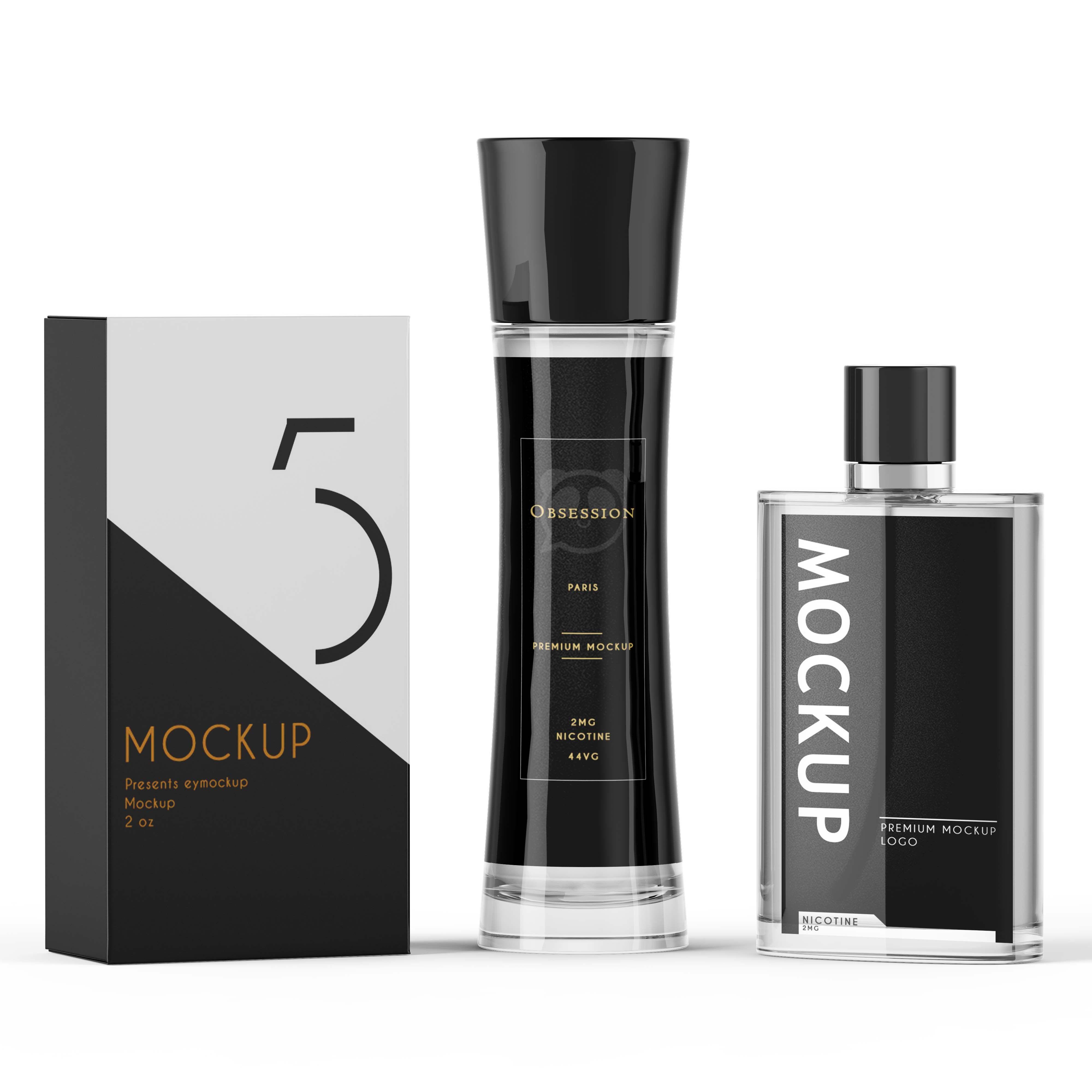 Download Black Scent Bottle Label Packaging Mockup Downloadpsd Labelmockup Mockups Psd Psdfile Productsmockup Mockup Free Psd Logo Design Mockup Free Logo Mockup