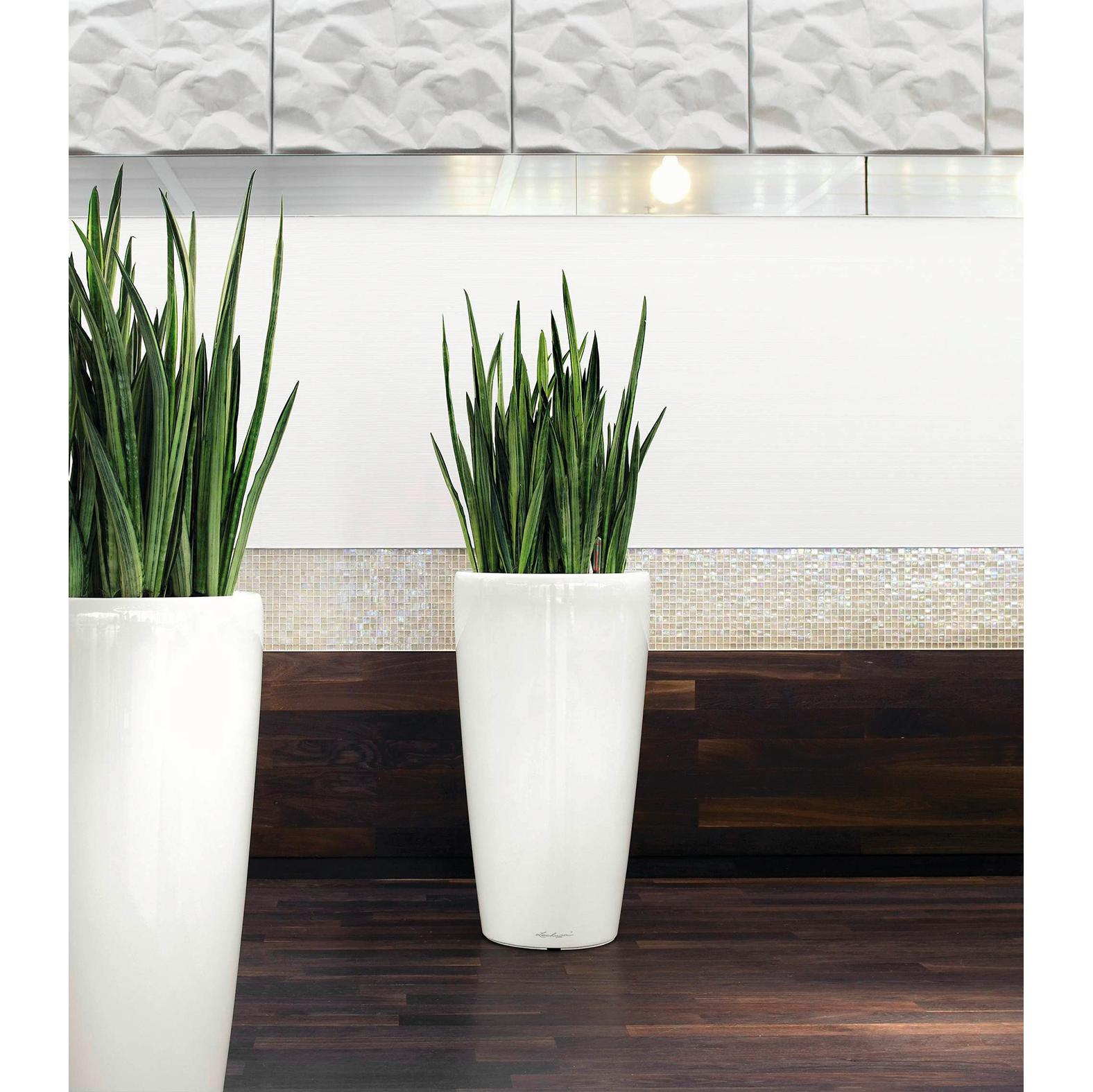 Finest vaso di design bianco lucido da interni ed esterni - Ikea vasi decorativi ...