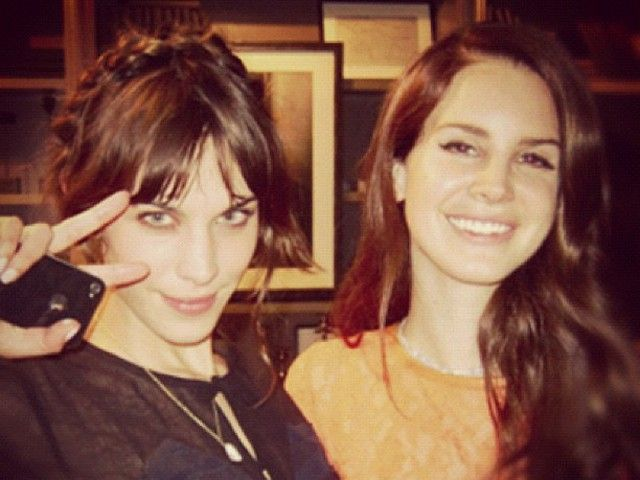 Lana del rey and alexa chung right. good