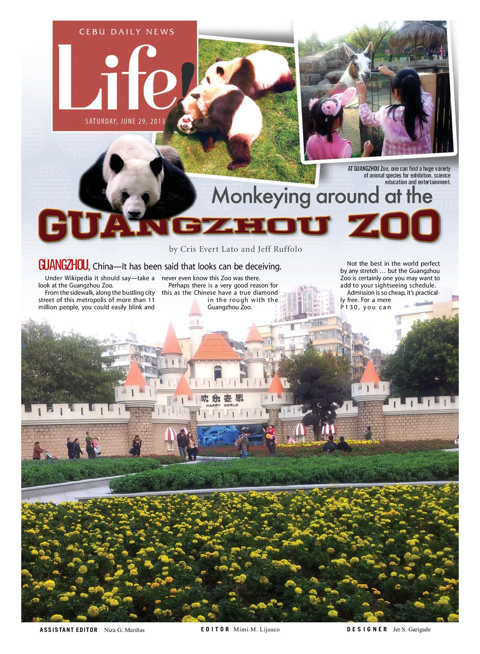 The travel featured was published in Cebu Daily News on June 29