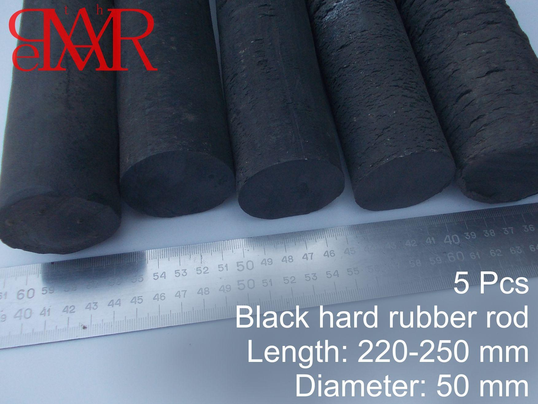 Ebonite 10 Rods Lot 50 Mm Dia Hard Rubber Material To Produce Handicrafts Rubber Material Hard Rubber Handicraft