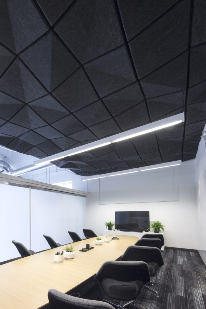 Crease A Range Of Modular Acoustic Ceiling Tiles By Turf