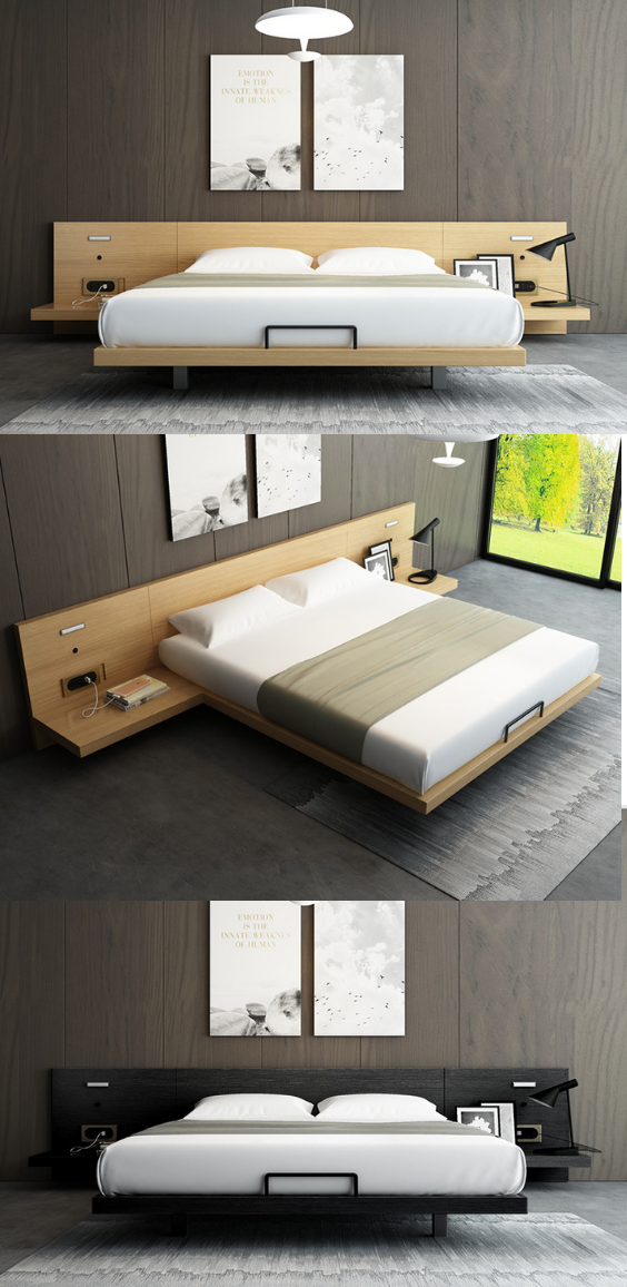 Japanese Tatami Double Bed Couple Bed In 2020 Japanese Bed