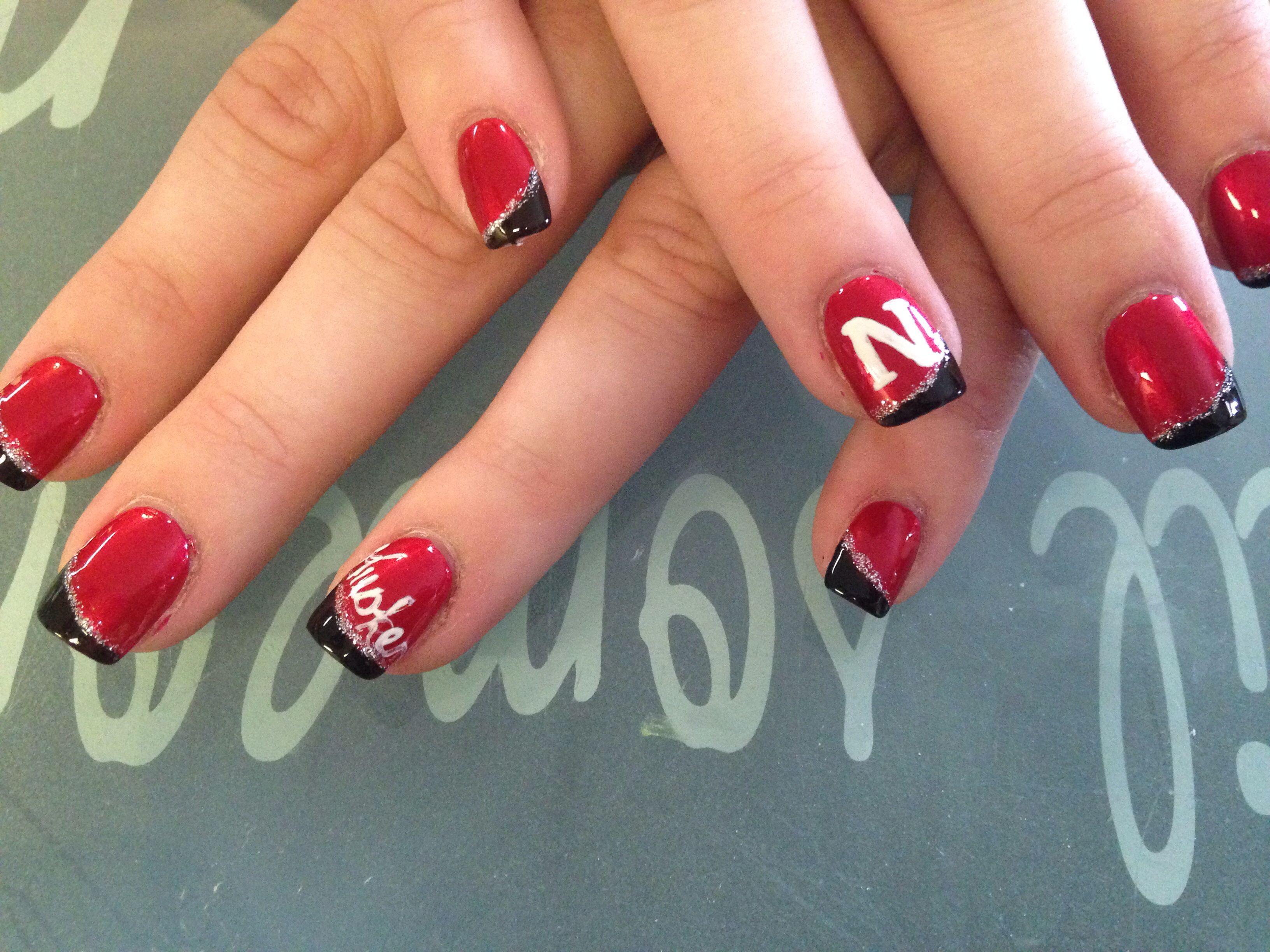 Nebraska Husker Nails … | Pinteres…