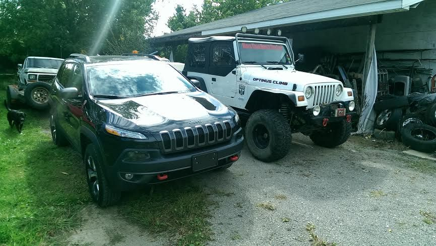 Paul Swain With My 98 Lifted Tj Code Name Optimus Climb And My 16