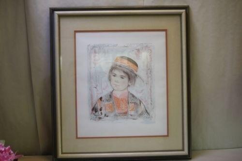 Framed Edna Hibel Print Young Child Pierre Numbered Signed 15 60 - 335 Large