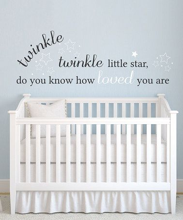 Look at this #zulilyfind! 'Twinkle Twinkle' Wall Decal by LolliPOP Walls #zulilyfinds